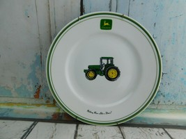 "Gibson John Deere Tractor Plate w/ Wall Hanger 11-1/4"" Green Farmhouse Decor - $12.86"