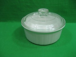 Vintage Corning Ware French White F-5-B Round 1.5 Quart Casserole Dish with Lid - $14.92