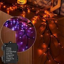 Hairui Lighted Halloween Vine with 48L Orange and Purple 8 - $47.13+