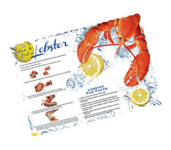 How to Eat Lobster Placemats for clambakes, lob... - $18.00