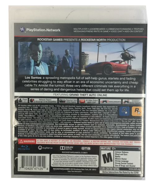 Sony Game Grand theft auto v five