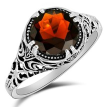 1CT Fire Garnet 925 Solid Sterling Silver Art Deco Style Ring Jewelry Sz... - $16.82