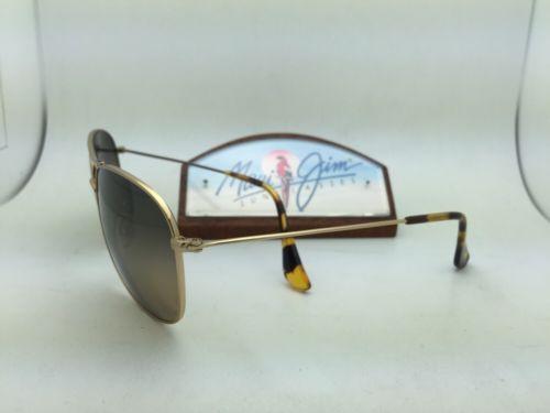 01a885277d818 Polarized MAUI JIM Sunglasses CLIFF HOUSE MJ 247-16 Gold Frame w HCL Bronze