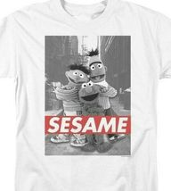 Bert, Ernie  Elmo T-shirt Sesame Street Retro TV series graphic tee SST133 image 3