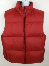 Gap Goose Down Feather Puffer Vest Mens Size XL Red - $34.64