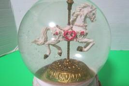 Vintage 1993 San Francisco Music Box Co Musical Snowglobe Carousel Horse... - $29.21