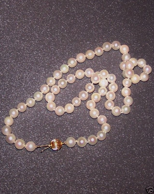 Cultured Pearls Strand 18 IN 7mm Creamy White 14K Gold Clasp