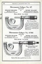 Micrometer Caliper No. 47  Measuring Tool 1941 AD Machine Tools Machinery - $14.99