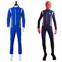 Star Trek Discovery Lt.Saru Cosplay Costume Blue Mens Science Crewman Un... - $105.28+