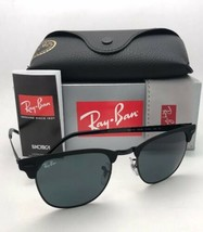 RAY-BAN Sunglasses CLUBMASTER METAL RB 3716 186/R5 Matte Black-Black w/Blue Lens