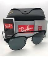 RAY-BAN Sunglasses CLUBMASTER METAL RB 3716 186/R5 Matte Black-Black w/B... - $169.95