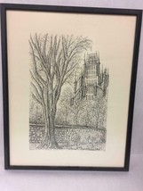 Framed Ink Drawing/Print of Chateau Frontenac 1970 Quebec Canada - $64.38