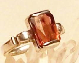 Pink Tourmaline Sterling Silver Ring 5.9 ct MAD... - $359.00
