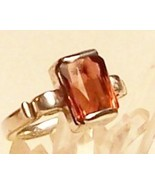 Pink Tourmaline Sterling Silver Ring 5.9 ct MADE IN USA - $359.00