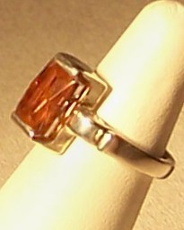 Pink Tourmaline Sterling Silver Ring 5.9 ct MADE IN USA