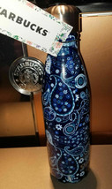 Starbucks Liberty Fabric S'well Water Bottle Blue Paisley New 2017 FastShip Rare - $66.66