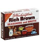 George Washington Rich Brown seasoning and Broth 1.1 OZ (Pack of 1) - $7.87