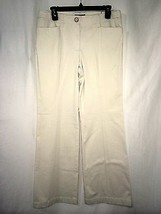 Ann Taylor Women's Pants Margo Ivory Pants Size 8 X 31 Nwt - $45.74