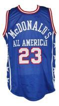Michael Jordan #23 McDonald's All American Basketball Jersey New Blue Any Size image 1