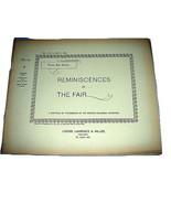 1893 Chicago Worlds Fair REMINISCENCES Photo Series Book #10 - $23.03
