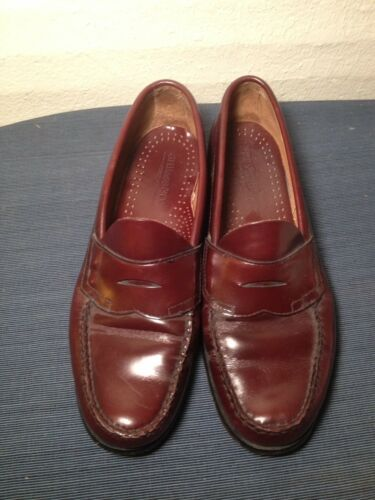 Garfield Slip-On Leather Shoes Brown Choose Size! NEW Mens G.H Bass /& Co