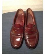 BASS Weejuns Brown Red Cordovan Leather Penny Loafers Mens shoes Size 11... - $46.74