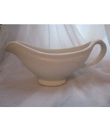 Hall China Restaurant Ware Large Sauce or Gravy Boat Rope Design White - $16.99