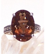 Smoky Quartz Sterling Silver Ring 12.0 ct 18x13... - $155.00