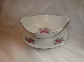 Gravy or Sauce Bowl Royal Jackson Parisienne Normandy Rose Pattern - $17.99