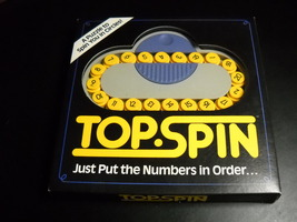 Top Spin Puzzle Game 3 Ways To Play 1989 Binary Arts Patent Pending Orig... - $13.99