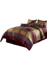 Chezmoi Collection Gitano Jacquard Patchwork 7-Piece Bedding Set, Califo... - $84.15