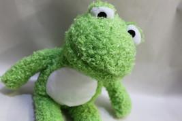 Funny Fuzzy Green little Froggie Cuddly Frog - $6.50