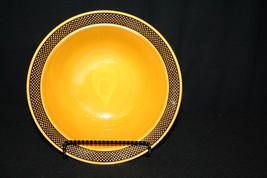 "Vtg Harmony House Aurora Ironstone Brown Yellow 6 1/2"" Soup Salad Dessert Bowl - $24.95"