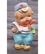 Old Dutch Boy with Book Hand Painted Figurine - $15.95