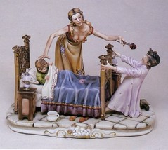 CAPODIMONTE  Mother & Childs Baby Teeth Laurenz Classic Italy Sculpture - $686.78