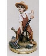 CAPODIMONTE  The Child Gardner by Enzo Arzenton Laurenz Classic Sculpture - $220.68
