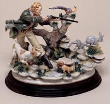 CAPODIMONTE The Hunter by Enzo Arzenton Laurenz Classic Sculpture Italy - $935.00