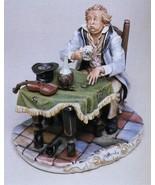 CAPODIMONTE  The Unsuccessful  Violinist Italy Laurenz Classic Sculpture - $393.49