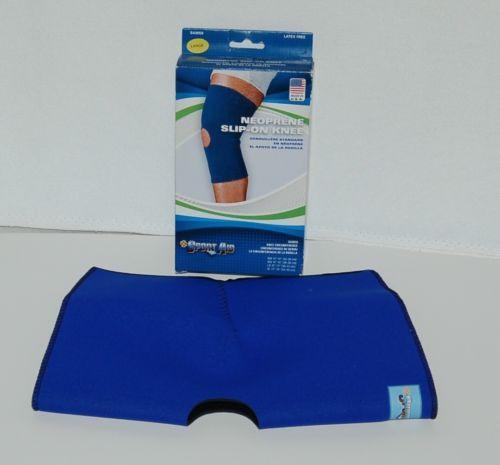 Sport Aid SA9050 Neoprene Slip On Knee Sleeve Size Large Color Blue