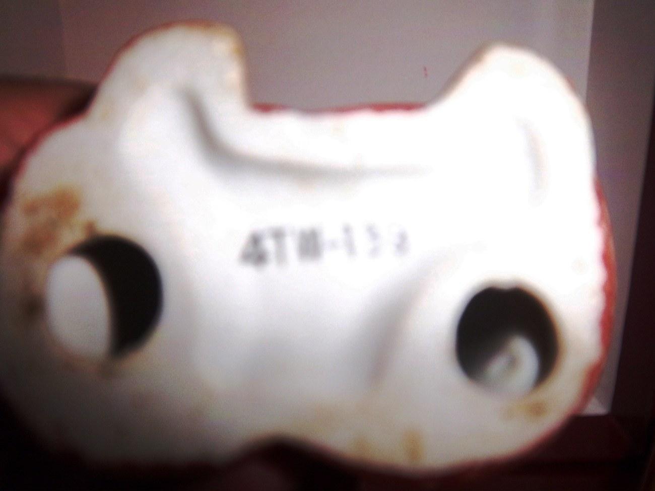 Vintage Ceramic Figurine Boy Child with Cat, Bottom marked 4TW-139 - CUTE