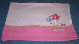 Carters Child of Mine ADORABLE Baby Girl Blanket Fleece Flowers Snail 29x36 Pink - $16.42