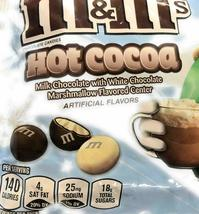 Lot of 4 M&M's 8 Oz Bags Hot Cocoa with Milk White Chocolate and Marshmallow New image 3