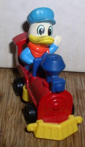 Disney Donald Duck Train engineer is made of Die Cast Metal