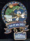 Primary image for Disney Donald Duck WDW DAK  July  4th- Patriotic Animal Kingdom Pin/Pins