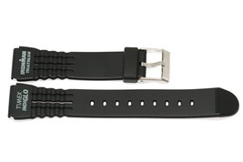 2 PIECES TIMEX 15MM BLACK RUBBER IRONMAN TRIATHLON SPORT WATCH BAND STRAP - $9.89