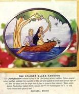 Disney Pocahontas John Smith Meko Raccoon Stained Glass Art - $99.99