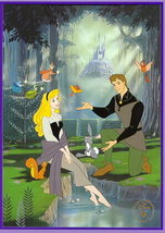 Disney Sleeping Beauty Princess Aurora & Prince Phillip Gold Seal Litho - $44.04