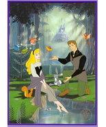 Disney Sleeping Beauty Princess Aurora & Prince Phillip Gold Seal Litho - $44.04