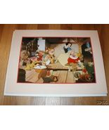 Disney Snow White Dancing with 7 Dwarfs Gold Seal Lithograph - $49.99