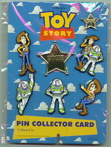 Disney Toy Story 1  Rare Collector card set Buzz Woody 7  Pins in set pi... - $49.99